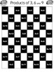 Multiplication Facts on a Checkerboard