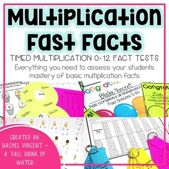 Multiplication Fast Facts {Fluency Quizzes}