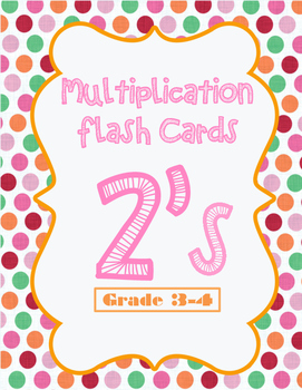 Multiplication Flash Cards - 2