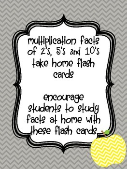 Multiplication Flash Cards {2's, 5's and 10's} Singapore Math