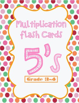 Multiplication Flash Cards - 5