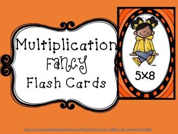 Multiplication Flash Cards: Fancy Version