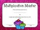 Multiplication Flash Cards with Award Certificates - Cupca