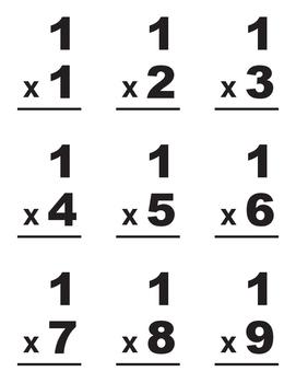 Multiplication Flashcards #1-12