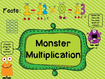 Multiplication Fluency- Master Multiplication Facts 0-12 w