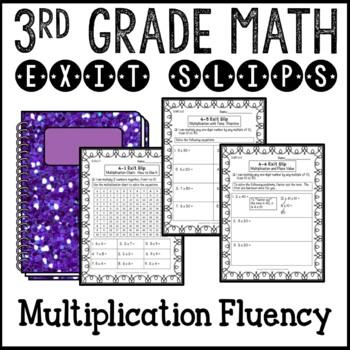 Multiplication Fluency Math Exit Slips 3rd Grade Common Core