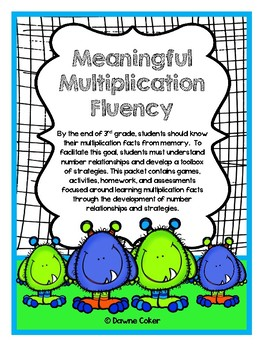 Multiplication Fluency through Strategy Development