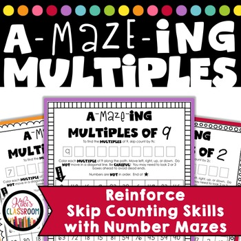 Multiplication Mazes - Practice with Multiples
