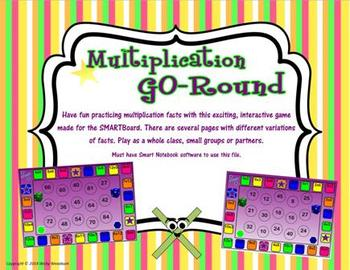 Multiplication GO-Round SMARTboard Game
