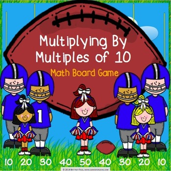 Multiplication Activity: Multiplying by Multiples of 10 Ga