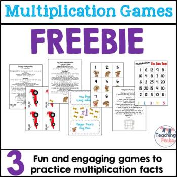 Multiplication Game Pack {Freebie}