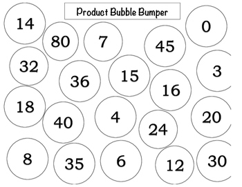 Multiplication Game - lower version