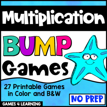 Multiplication Games 27 Multiplication Facts Bump Games