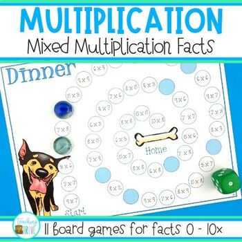 Multiplication Games - mixed multiplication facts practice