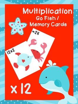 Multiplication Go Fish Cards: x12