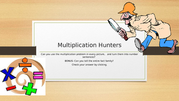 Multiplication Hunters - real world examples