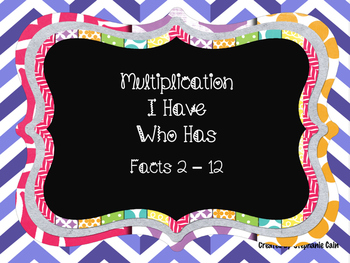 Multiplication I Have...Who Has?