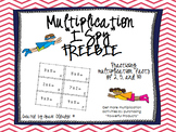 Multiplication I Spy Game FREEBIE