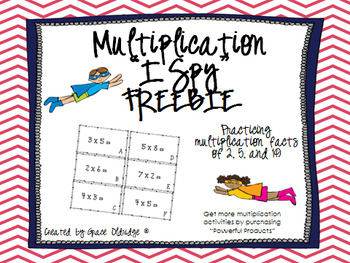 Multiplication I Spy Game FREEBIE
