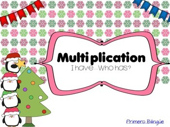 "Multiplication ""I have.. Who has?"" game 1"