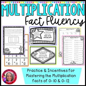 Multiplication fact Incentive- printable awards, flash car