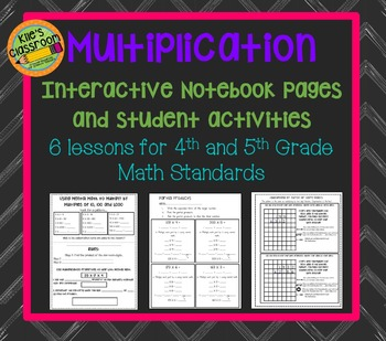 Multiplication of Larger Numbers Interactive Notebook and