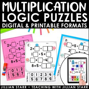 Multiplication Logic Puzzles