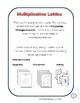Multiplication Lattice - Third and Fourth Grade