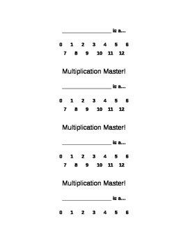 Multiplication Master Cards