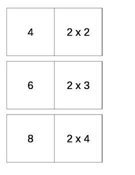Multiplication Match Game (2s, 5s, 10s tables)