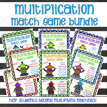 Multiplication Match Game - Bundle - Ones through Nines
