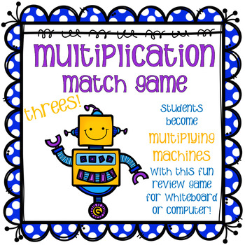 Multiplication Match Game - Threes