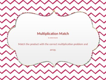 Multiplication Match Up 3's