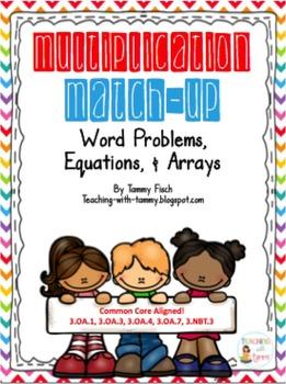 Multiplication Arrays & Word Problem {Task Cards}