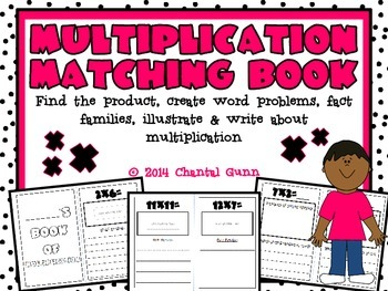 Multiplication Matching Book {Hands-on, Cut & Glue, Draw & Write}