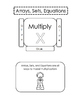 Multiplication Matching Practice Pocket: Arrays, Sets, and