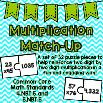 Multiplication Match-Up {Common Core}