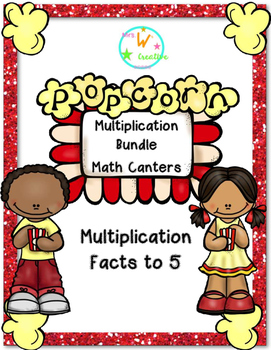 Multiplication Math Centers Facts to 5