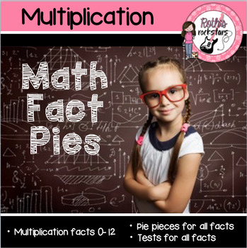 Multiplication Math Fact Pies