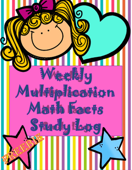 Multiplication Math Fact Study Log