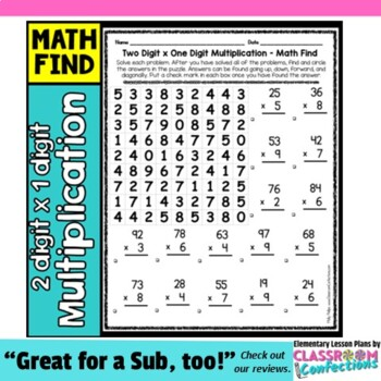 Multiplication Activity: two digit by one digit multiplication