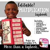Multiplication {EDITABLE} Lapbook & More