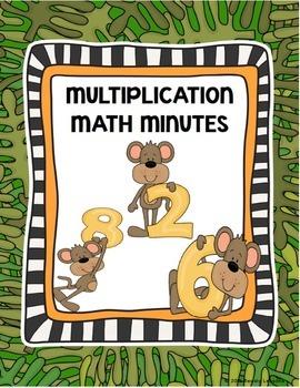 Multiplication Worksheets- Multiplication Fact Practice &