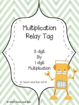 Multiplication Math Tag; 3 digit by 1 digit