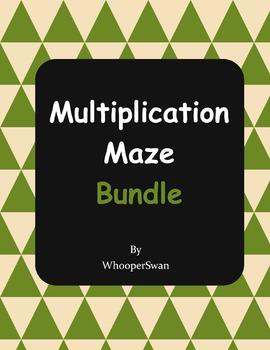 Multiplication Maze Bundle