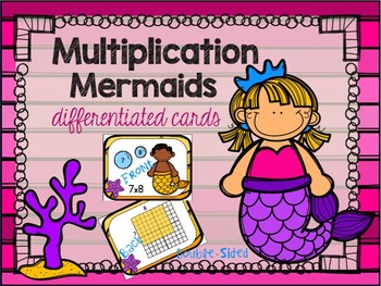 Multiplication Array Cards: Differentiated Flash Cards