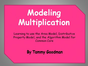 5th Grade Math Common Core - Multiplication Models Powerpoint