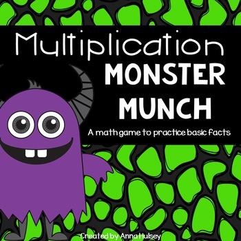 Multiplication Monster Munch (math center game)