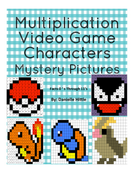 Multiplication Mystery Pictures: Pokemon Go