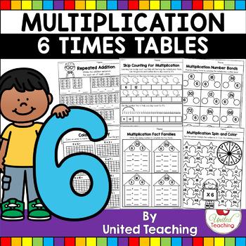 Multiplication No Prep 6 Times Tables